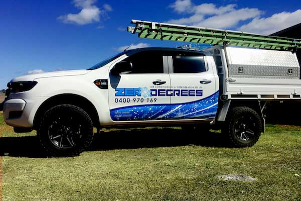 Zero Degrees mobile air conditioning repairs